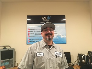 Trainee John at Rise Up Industries